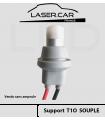 SUPPORTS de lampe  T10 câblé, La paire