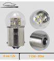 R5w, 1156 LED  6v ou 12v, Graisseur