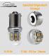 AMPOULES LED, P21W, 1156, BA15s, 6 à 12V ,COULEUR ORANGE, CLIGNOTANT LASER CAR