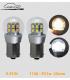 AMPOULES LED, P21W, 1156, BA15s, 6 à 12V , LASER CAR