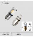 BA7s LED 6/12v, 50 / 180lm, Tableau de bord, instruments, 2D