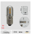 E10 Led à vis - 6 /12v , Série 3D
