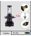 """H4 LED 12v, 105w , """"PHILIPS LUXEON Z ES ®""""**, Série 3xl"""
