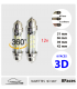 NAVETTE 12V, 3D, 8 FACES, 360°