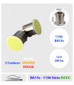 2x P21w, 1156 LED 12v. BLANC, ROUGE, ORANGE  -Série BASIC