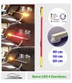 Barre LED Auto,  multi-fonctions - Veilleuse - Stop - Clignotants - pour lunette arrière