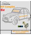 KIT éclairage LED  Premium 6v - 2cv sans modification