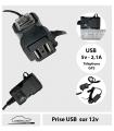 Prise double USB - 5v - 2,1A - sur batterie 12v -