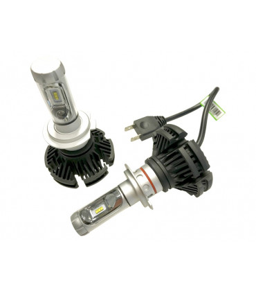 H7 LED 12v - Kit de remplacement LED - 3000 lumen BLANC ou JAUNE