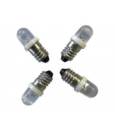 Led E10_VIS_ 12V-0,5 W Led blanche _4 ampoules