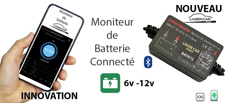 testeur de batteries connecté